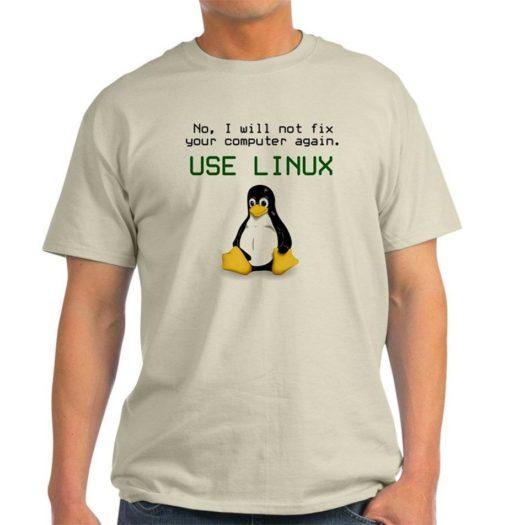 t-shirt Tux style