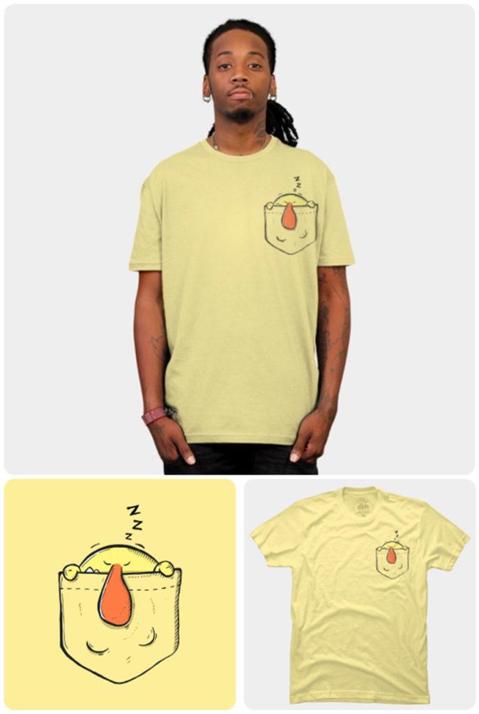 t-shirt avec poche originale